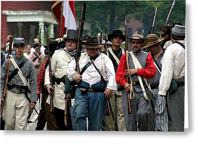 Confederate March Towards The River II Clr Greeting Card by Thia Stover