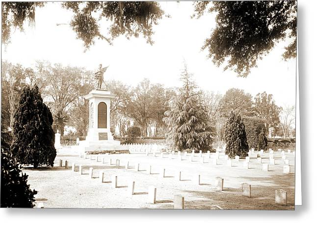 Confederate Monument, Magnolia Cemetery, Charleston Greeting Card by Litz Collection