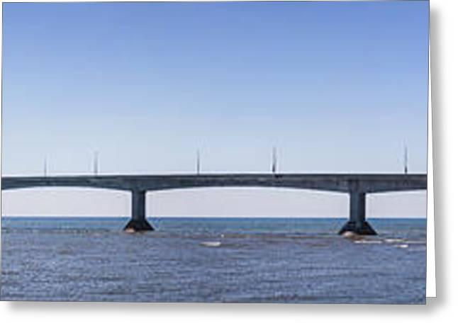 Confederation Bridge Panorama Greeting Card
