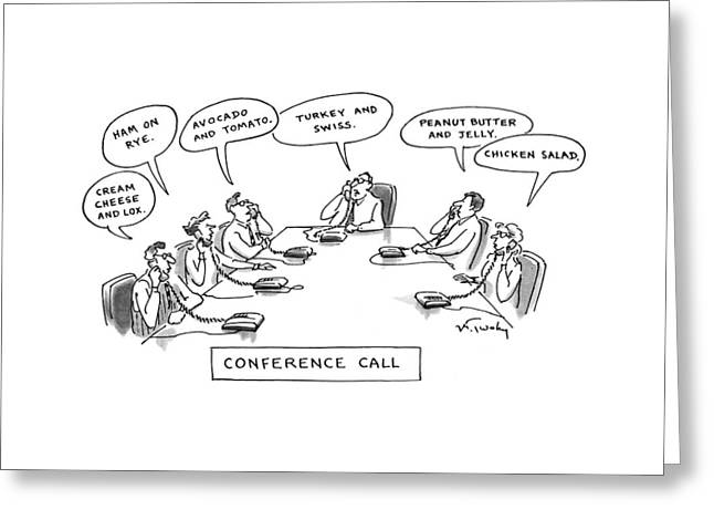 Conference Call Greeting Card
