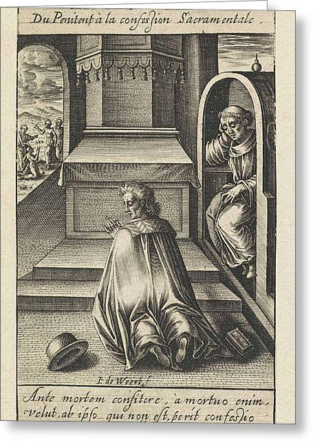 Confession, Jacob De Weert Greeting Card by Artokoloro