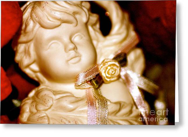 Greeting Card featuring the photograph Confetti Cherub by Cathy Dee Janes