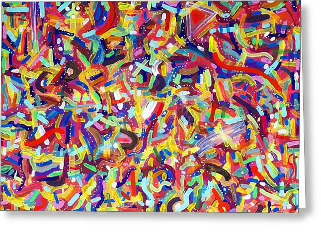 Confetti Greeting Card by Patrick OLeary