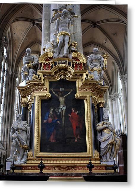 Confrerie Notre Dame Du Puy Greeting Card by Aidan Moran