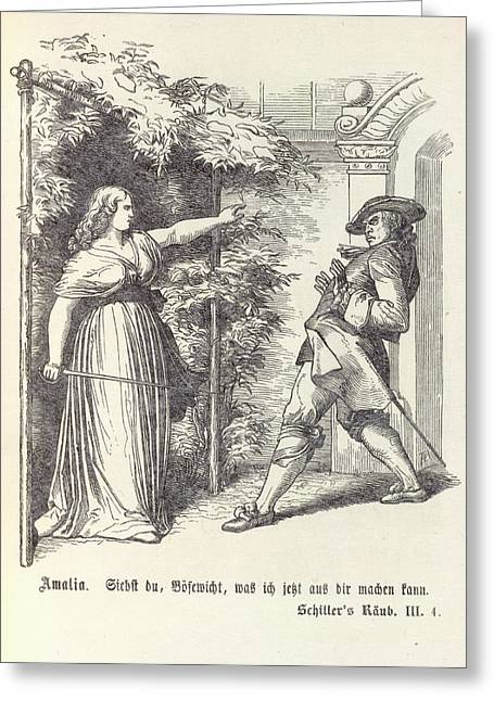 Confrontation Greeting Card by British Library