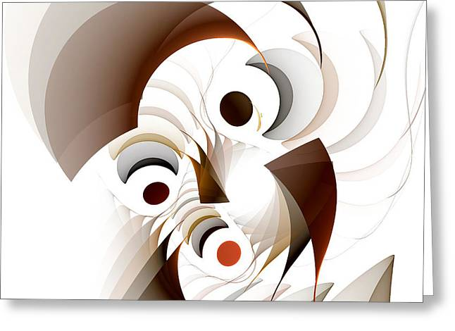 Confusion Greeting Card by GJ Blackman