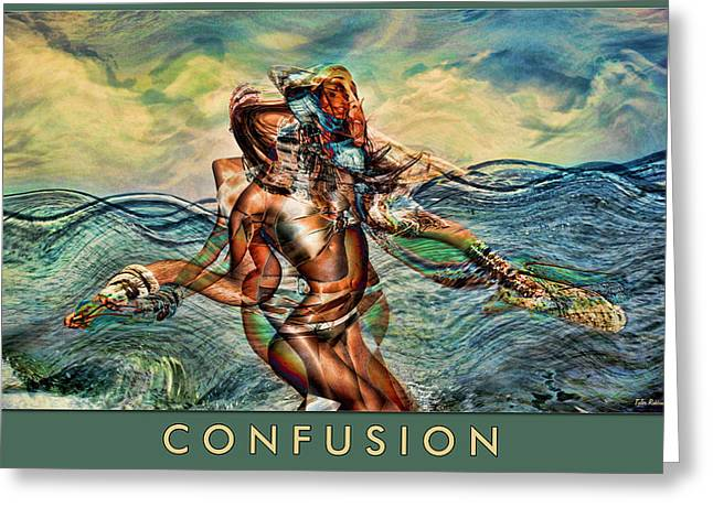 Confusion Greeting Card by Tyler Robbins