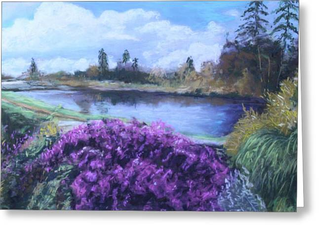 Greeting Card featuring the painting Cong Ireland by Melinda Saminski