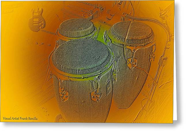 Congas Greeting Card