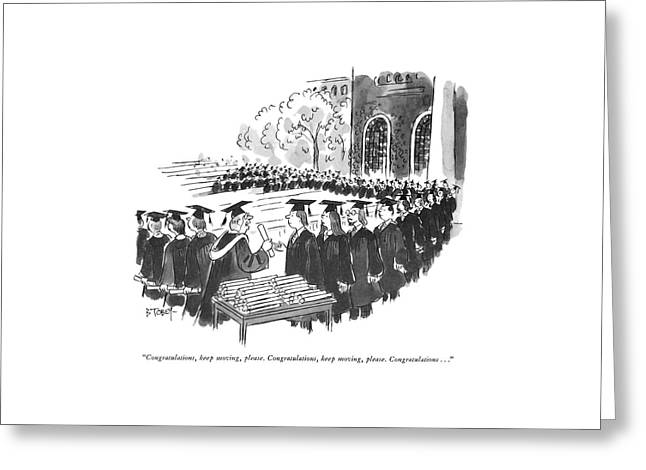 Congratulations Greeting Card by Barney Tobey