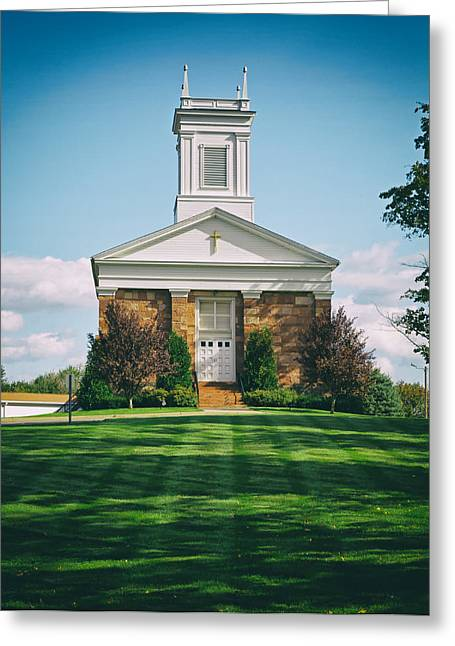 Congregational Church Greeting Card by Mountain Dreams