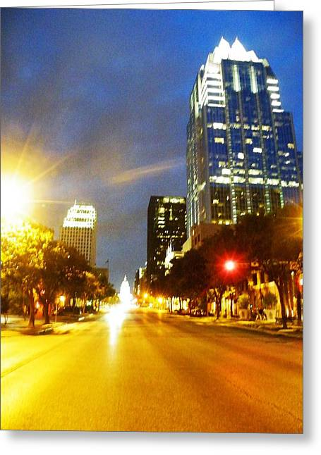 Congress Boulevard Austin Greeting Card by The GYPSY And DEBBIE