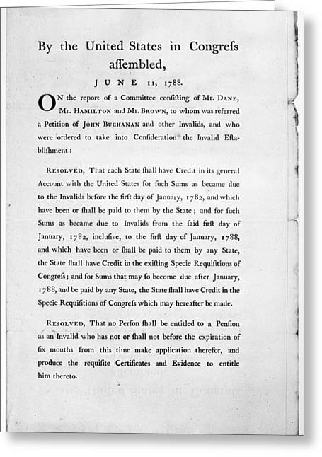 Congress Committee, 1788 Greeting Card by Granger