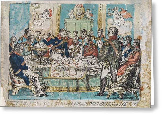 Congress Of Vienna Austria, 1815, Anonymous Greeting Card by Anonymous