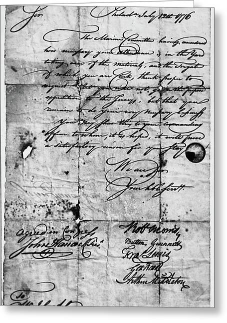Congressional Document, 1776 Greeting Card by Granger
