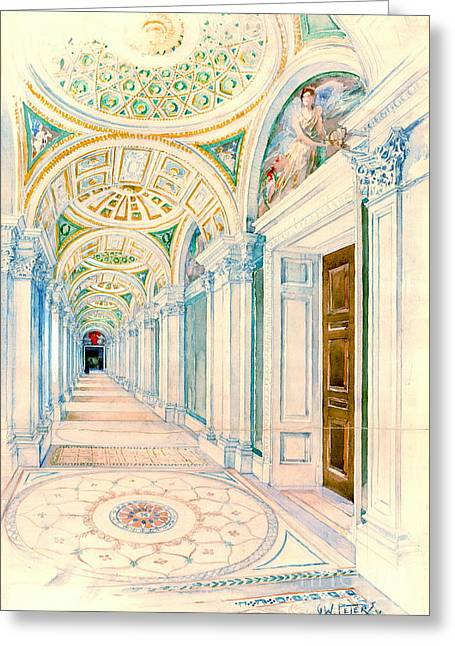 Congressional Library Washington Dc 1897 Greeting Card by Padre Art