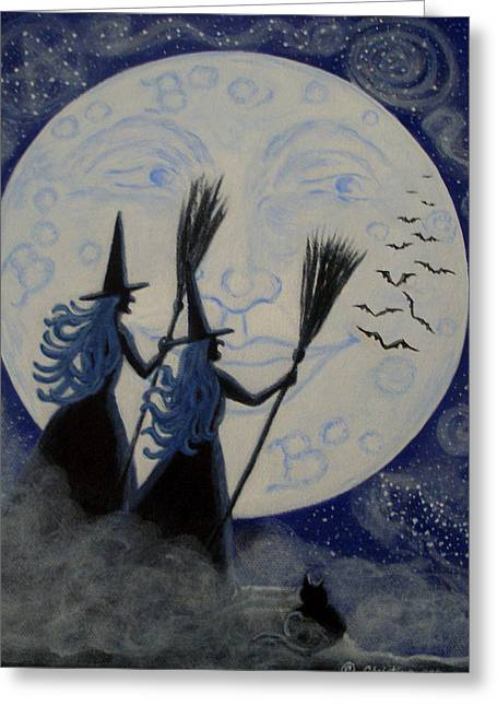 Conjuring Constellations Greeting Card by Christine Altmann