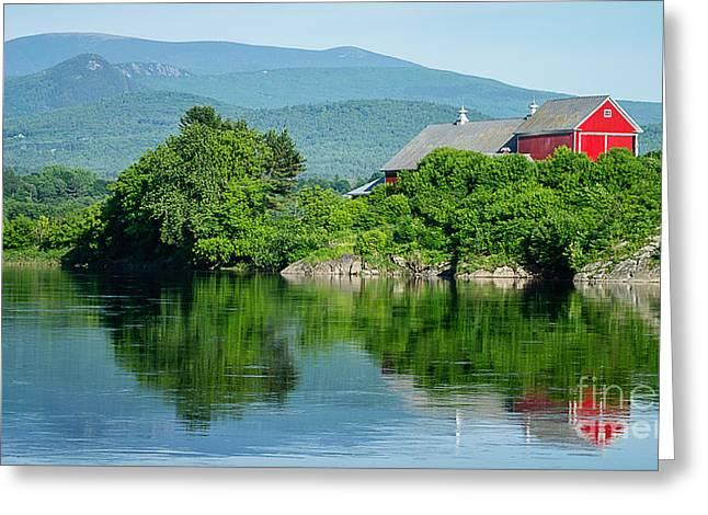 Connecticut River Farm II Greeting Card by Edward Fielding