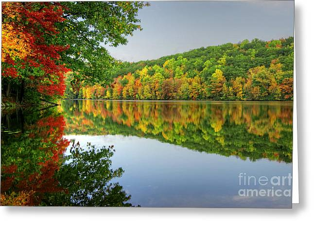 Connecticut River In Autumn Greeting Card
