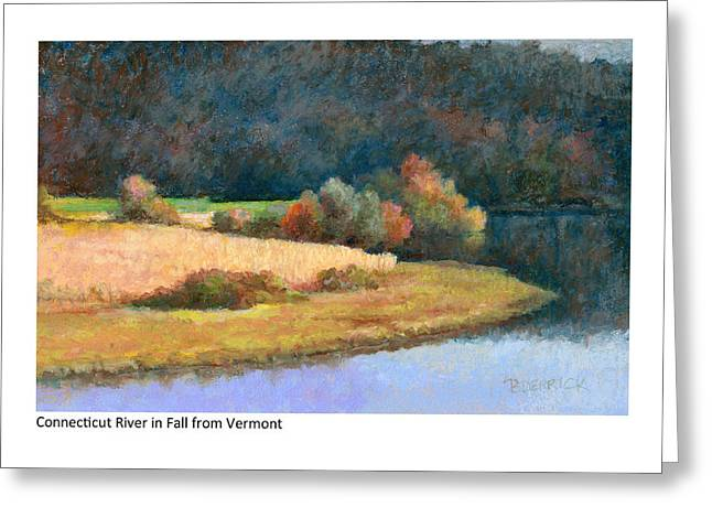 Connecticut River In Fall From Vermont Greeting Card
