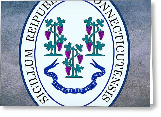 Connecticut State Seal Greeting Card by Movie Poster Prints