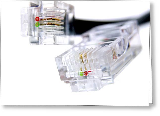 Connector Plug Greeting Card