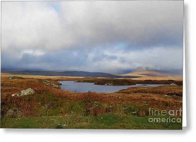Connemara Bog Road Greeting Card