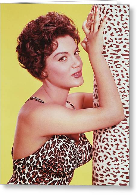 Connie Francis Greeting Card by Silver Screen