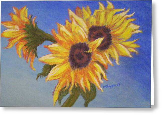 Connies Sunflowers Greeting Card