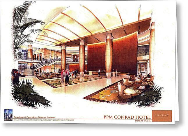 Conrad Hotel Dubai Greeting Card by Jack Adams