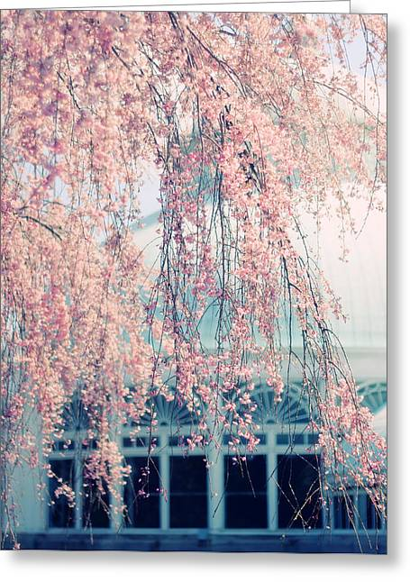 Conservatory  In Spring Greeting Card by Jessica Jenney