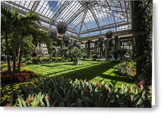 Conservatory Greeting Card by Phil Abrams