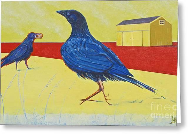 Consider The Ravens Greeting Card by Christine Belt