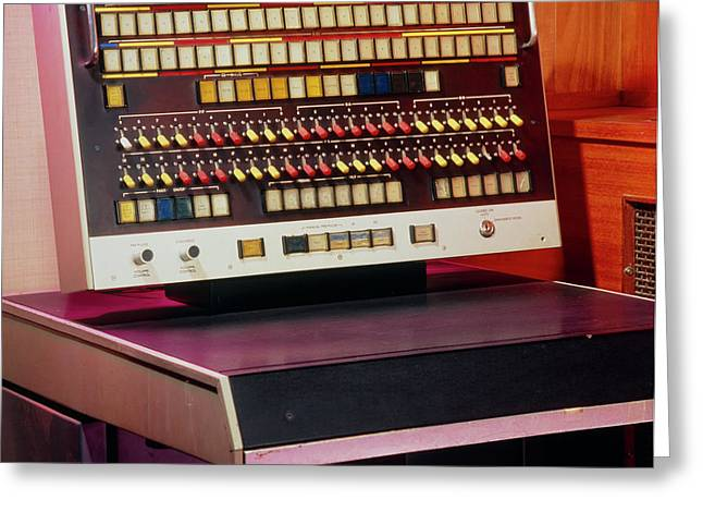 Console Of The Atlas 1 Computer Built In 1964 Greeting Card