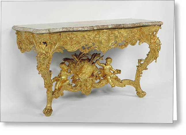Console Table Attributed To Joseph Effner, German, 1687 - Greeting Card by Litz Collection