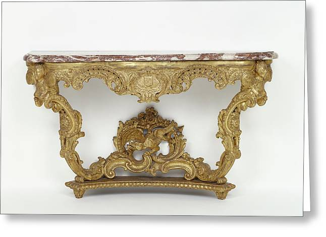 Console Table Unknown Paris, France Greeting Card