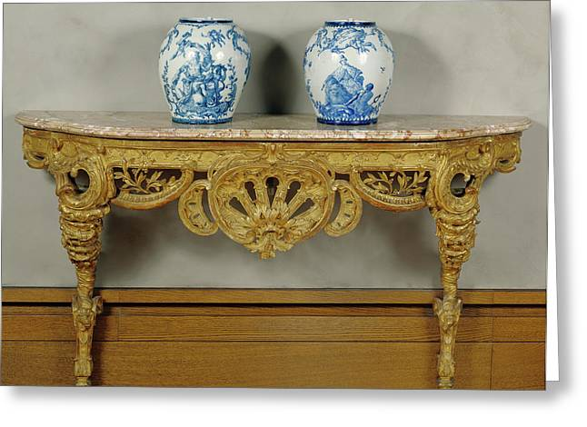 Console Table Unknown Piedmont , Italy Greeting Card by Litz Collection
