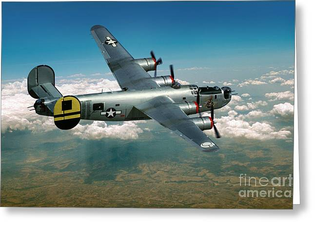 Consolidated B-24 Liberator Greeting Card