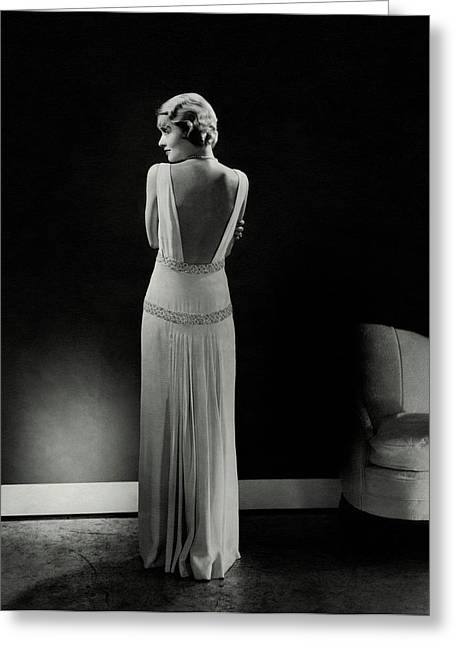 Constance Bennett As Seen From Behind Greeting Card by Edward Steichen
