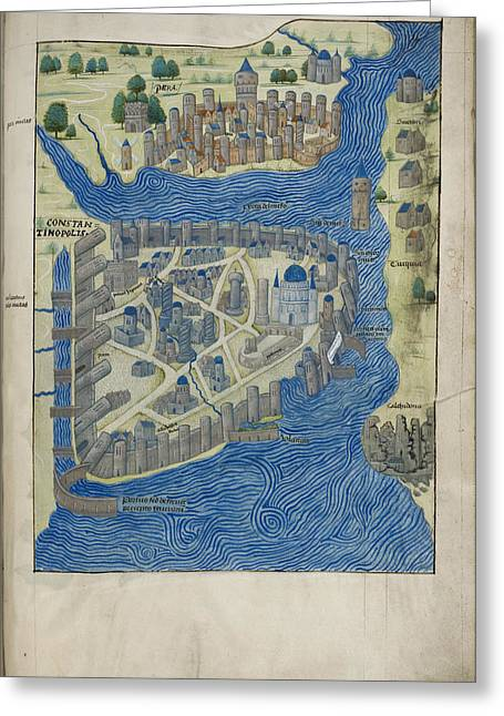 Constantinople And Pera Greeting Card by British Library