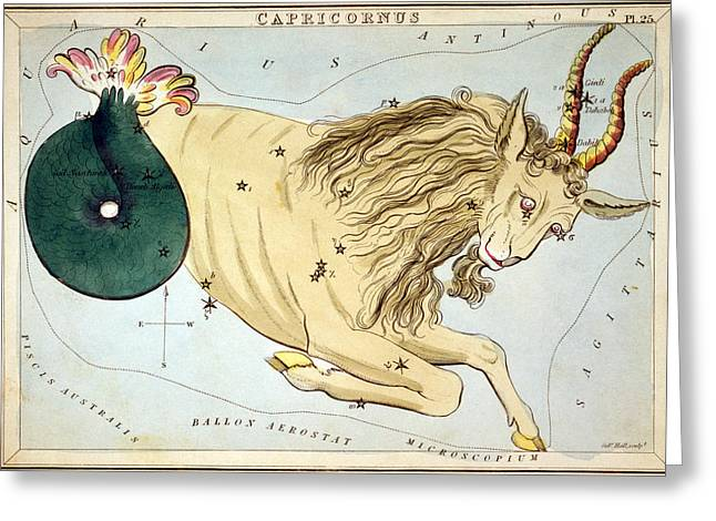 Constellation: Capricorn Greeting Card by Granger