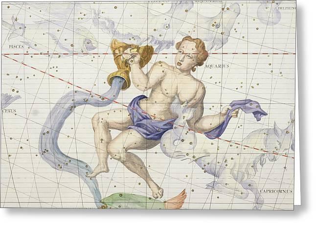 Constellation Of Aquarius Greeting Card