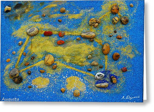 Constellation Of Leo Greeting Card by Augusta Stylianou