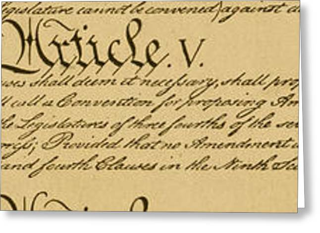 Constitution Article V Greeting Card by Granger
