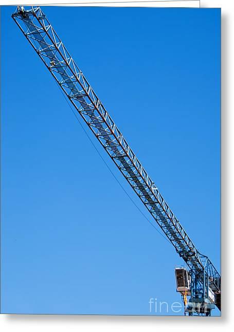 Construction Crane 01 Greeting Card by Antony McAulay
