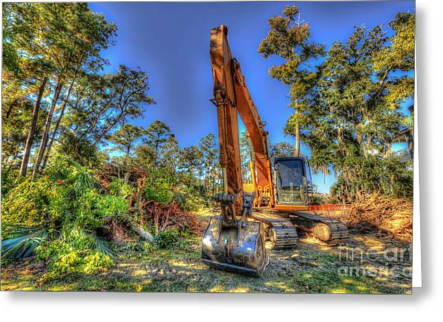 Construction Site Greeting Card by Dale Powell