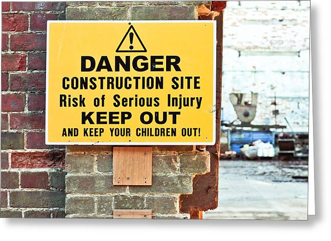 Construction Site Greeting Card by Tom Gowanlock