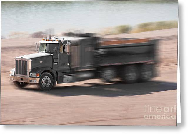 Greeting Card featuring the photograph Construction Truck by Gunter Nezhoda