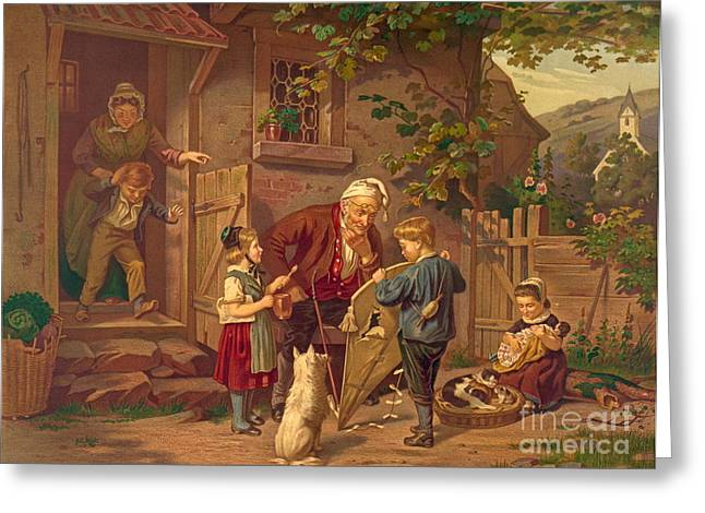 Consulting Grandfather 1871 Greeting Card