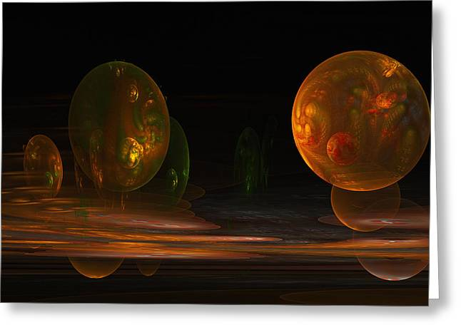 Greeting Card featuring the digital art Consumed From Within by GJ Blackman